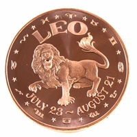 Pure Copper - Zodiac Leo 1oz Fine Copper (No Tax)