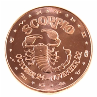 Pure Copper - Zodiac Scorpio 1oz Fine Copper (No Tax)