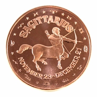 Pure Copper - Zodiac Sagittarius 1oz Fine Copper (No Tax)
