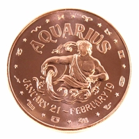 Pure Copper - Zodiac Aquarius 1oz Fine Copper (No Tax)