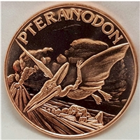 Pure Copper 1oz. .999 Fine - Dinosaurs - Pteranodon (No Tax)
