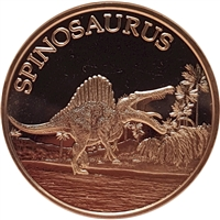 Pure Copper 1oz. .999 Fine - Dinosaurs - Spinosaurus (TAX Exempt)