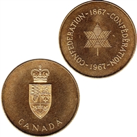1867-1967 Canada Confederation Medallion in original Cellophane Mega05