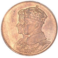 1939 King George VI Visiting Canada Bronze Medallion (Mega37)