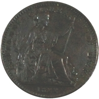 Great Britain 1822 George IV Farthing Extra Fine (EF-40)