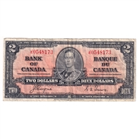 BC-22c 1937 Canada $2 Note Coyne-Towers F-VF (damaged)
