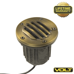 Brass Bully Grate MR16 Well Light