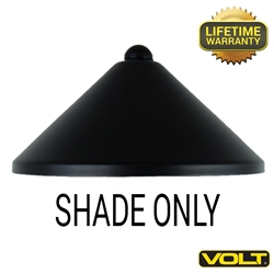 Conehead Shade Only Black Finish