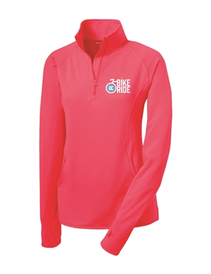 Ladies Pink DC Bike Ride Stretch Pullover