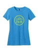 Ladies 2019 Blue Chain Logo Short Sleeve T-Shirt