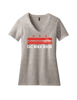 Ladies DC Flag Bike Short Sleeve T-Shirt