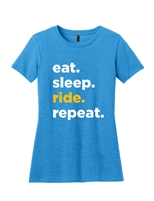 Ladies Blue Repeat Short Sleeve T-Shirt