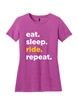 Ladies Pink Repeat Short Sleeve T-Shirt