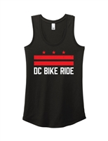 Ladies DC Flag Bike Racerback Tank