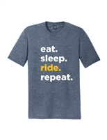 Navy Repeat Short Sleeve T-Shirt