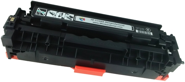 HP CC530A (304A) Black Toner Cartridge Remanufactured