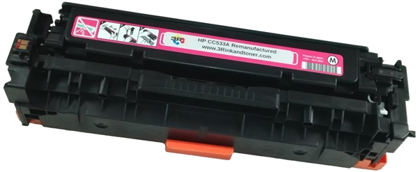 HP CC533A (304A) Magenta Toner Cartridge Remanufactured