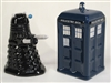 Doctor Who- TARDIS VS Dalek Salt & Pepper Set