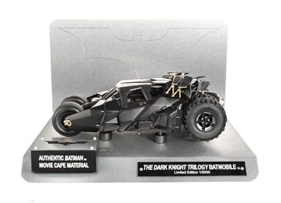 Dark Knight Trilogy Batmobile 1:18 with cape swatch