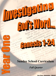 Sunday School Curriculum—Year One (NIV), Fall