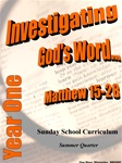 Sunday School Curriculum—Year One (NIV), Summer