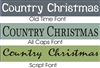 Country Christmas Stencil