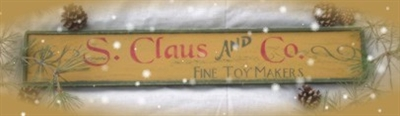 S. Claus & Co Toy Makers Two Size Choices Stencil