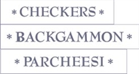 Checkers * Backgammon *Parcheesi Stencil Set