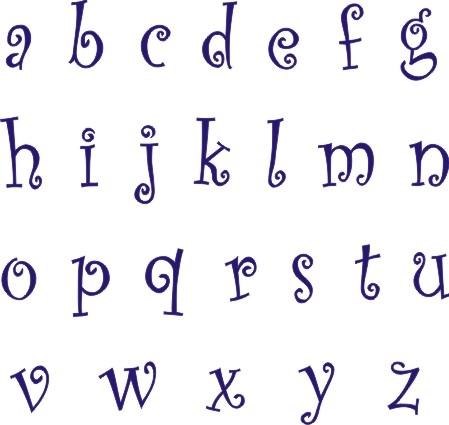 CURLZ Alphabet Lowercase 15 Stencil