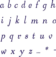 FANCIFUL Alphabet Lowercase 2.5""