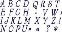 "FANCIFUL Alphabet Uppercase 2.5"" with numbers"