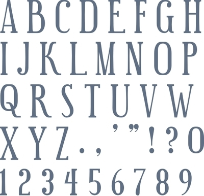 "Funky Font Uppercase 1"" Stencil Set"