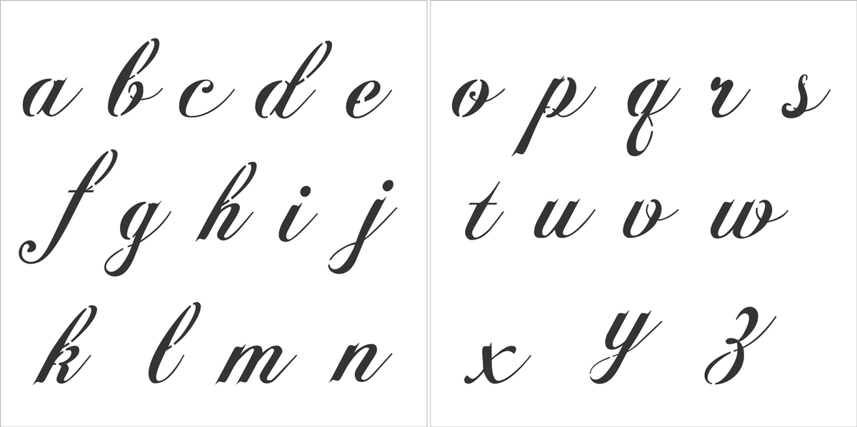 Fancy Script Alphabet 5