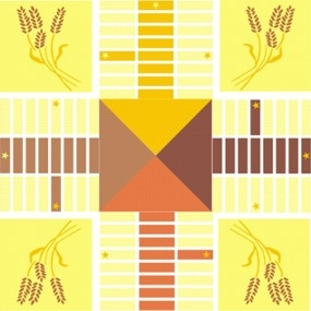 Parcheesi Board Autumn Harvest Stencil Set