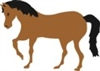 Horse Shape Graphic Stencil