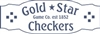 Gold Star Checkers Game Topper