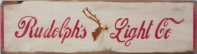 Rudolph's Light Co Christmas Stencil
