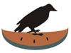 Crow on Watermelon Slice stencil