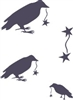 Crow with Stars stencil