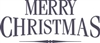 Merry Christmas Titiling font Stencil