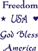 Freedom - USA - God Bless America Stencil