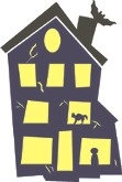 Haunted House Graphic stencil