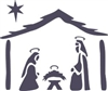 Nativity Graphic Christmas Stencil