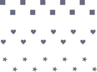 Checkerboard Hearts & Stars Borders