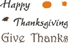 Happy Thanksgiving / Give Thanks stencil