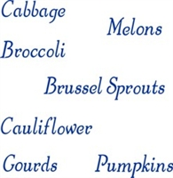 Veggies Words Set 3 stencil