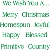 We Wish You... Classic Christmas words Stencil