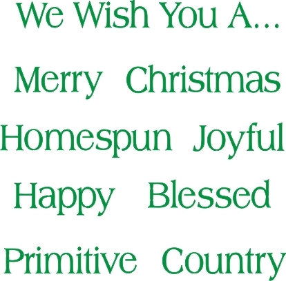 classic christmas words stencil