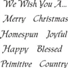 "We Wish You... Fancy Christmas Words 12 x 12"" Stencil"