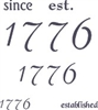 1776 since established Stencil